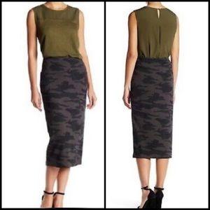 Revolve Sanctuary Camo Print Midi Skirt